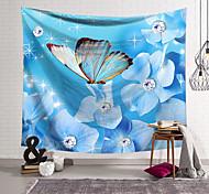 abordables -Tapisserie murale art décor couverture rideau suspendu maison chambre salon décoration polyester cristal papillon