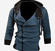 abordables -veste à capuche slim fit homme gris xxl