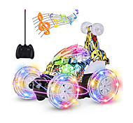 economico -Macchinine giocattolo Auto telecomando Ricaricabile Rotazione a 360° Telecomando Musica e luce Buggy (fuoristrada) Macchina stunt Macchina da corsa 2.4G Per Per bambini Per adulto Regalo