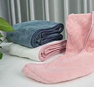 abordables -serviette de cheveux wrap sèche cheveux chapeau de bain bonnet de cheveux serviette de séchage avec bouton