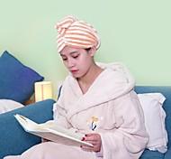 abordables -Coral polaire cheveux serviette wrap cheveux secs chapeau de bain bonnet de cheveux serviette de séchage des cheveux avec bouton 1 pc