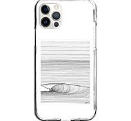 abordables -Lignes / Vagues Cas Pour Pomme iPhone 12 iPhone 11 iPhone 12 Pro Max Modèle unique Étui de protection Antichoc Motif Coque TPU
