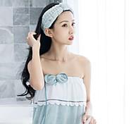 abordables -jupe de bain épaisse en polaire corail, bonnet pour cheveux secs, bandeau, serviette, costume trois pièces, serviette de bain portable, jupe de bain bowknot