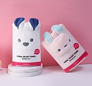 abordables -corail polaire serviette douce serviette de bain forme animale mignon visage laver les cheveux secs ménage absorbant serviette pour cheveux secs