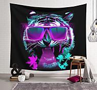 abordables -Tapisserie murale art décor couverture rideau suspendu maison chambre salon décoration polyester dj lunettes de soleil tigre cool tendance
