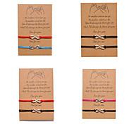 economico -Braccialetti di distanza di promessa del mignolo 2 pezzi, braccialetti di corrispondenza di amicizia regalo per i migliori amici coppia donne di famiglia uomo, nodo a cuore