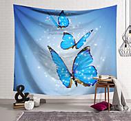 abordables -Tapisserie murale art décor couverture rideau suspendu maison chambre salon décoration polyester bleu papillon