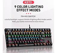abordables -LITBest K870 USB filaire clavier mécanique Clavier de jeu Jeux Etanche rétro-éclairage multi-couleurs 87 pcs Clés