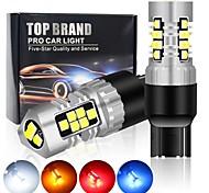abordables -Automatique LED Feux de Circulation Diurnes / Clignotants / Feux de recul Ampoules électriques 800 lm SMD 3030 4 W 21 Pour Universel Toutes les Années 2 pièces