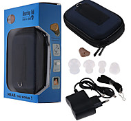 abordables -petites tonalité réglable rechargeables aides d'aides auditives pratiques au bouchon d'oreille à l'oreille amélioration du son aide sourds