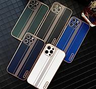economico -telefono Custodia Per Apple Per retro Custodia in pelle iPhone 12 Pro Max 11 SE 2020 X XR XS Max Resistente agli urti Con onde Tinta unica pelle sintetica