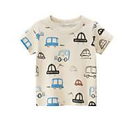 economico -Bambino Da ragazzo maglietta T-shirt Manica corta Pop art Con stampe Beige Cotone Bambini Top Estate Moda città