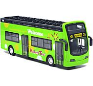 abordables -1:48 Petites Voiture Modèle de Voiture Petite Voiture Autobus à impériale Bus Classique Musique et Lumière Alliage de métal Mini véhicules de voiture jouets pour cadeau d'anniversaire ou cadeau