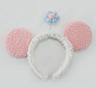abordables -bande dessinée petite fleur lavant visage bande de cheveux mignon en peluche mickey pressé chignon épingle à cheveux