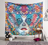 abordables -Tapisserie murale art décor couverture rideau suspendu maison chambre salon décoration polyester couleur visage