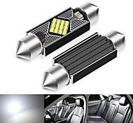 abordables -Automatique LED Lumière de Plaque d'Immatriculation Ampoules électriques 600 lm SMD 2835 3 W 12 Pour Universel Toutes les Années 1 PCS