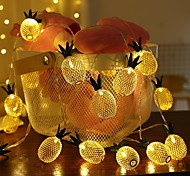 economico -1,5 m Fili luminosi 10 LED 1 set Bianco caldo Natale Capodanno Feste Decorativo Vacanze Batterie AA alimentate