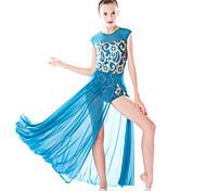 economico -Danza classica Jazz Calzamaglia / Pigiama intero Con spacco Più materiali Paillettes Per donna Addestramento Prestazioni Senza maniche Chinlon Licra