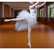 economico -Danza classica Abito Con applique Tinta unita Per donna Addestramento Prestazioni Senza maniche Misto cotone