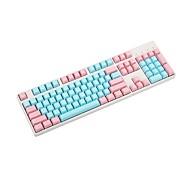 economico -87 tasti pbt miami doppio colore retroilluminazione keycap colonna universale per tastiere meccaniche ikbc cherry mx annie