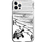 abordables -Lignes / Vagues Nautique Cas Pour Pomme iPhone 12 iPhone 11 iPhone 12 Pro Max Modèle unique Étui de protection Antichoc Motif Coque TPU