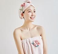 abordables -serviette de bain ménage tube haut jupe de bain bande de cheveux absorbant et à séchage rapide 2 pièces
