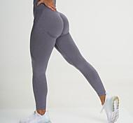 economico -Per donna Vita alta Leggings per lo yoga Senza cuciture Pantaloncini Calze / Collant / Cosciali Ghette Fasciante in vita Sollevamento dei glutei Stretching a 4 vie Viola Viola chiaro Verde scuro