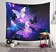 abordables -Tapisserie murale art décor couverture rideau suspendu maison chambre salon décoration polyester violet or papillon ligne