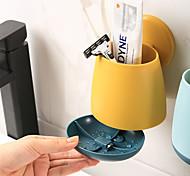 economico -Strumenti Lavabile / Auto-adesivo / Contenitore Contemporaneo moderno Plastica 2 pezzi - Cuffia da doccia organizzazione del bagno