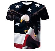 abordables -Homme T-shirt 3D effet 3D Rivet Maille Manches Courtes Décontracté Hauts Noir / Rouge Noir / Gris Gris / blanc