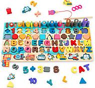economico -giocattoli puzzle montessori in legno per bambini piccoli, ragazze e ragazzi di età compresa tra 2 3 4 5, 7 in 1 giocattoli educativi di apprendimento per la pesca, il conteggio, lo smistamento,
