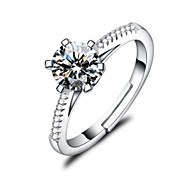 economico -Anello piccolo diamante Bianco Argento sterling S925 Palla Elegante Di tendenza 1 pc Taglia unica / Per donna / Anello della promessa