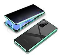 economico -telefono Custodia Per Samsung Galaxy Integrale Custodia ad adsorbimento magnetico S20 Plus S20 Ultra S20 Resistente agli urti A specchio Doppia setola Tinta unita Vetro temperato Alluminio