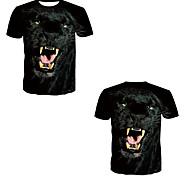abordables -Homme T-shirt 3D effet 3D Rivet Maille Manches Courtes Décontracté Hauts Noir