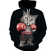 abordables -Homme Sweat-shirt à capuche 3D Imprimé 3D effet Motifs 3D Pulls Capuche Pulls molletonnés Noir Gris Claire Bleu Roi