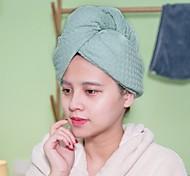 abordables -serviette de cheveux en microfibre gaufre wrap sèche cheveux chapeau de bain bonnet de bain serviette de séchage des cheveux avec bouton
