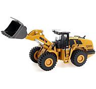 abordables -1h50 Alliage de métal Alliage métallique Métal Ensemble de camion de construction Bulldozer Excavateur Chargeur Sur Pneus Véhicule de construction de camion jouet Petites Voiture Modèle de Voiture