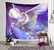 abordables -Tapisserie murale art décor couverture rideau suspendu maison chambre salon décoration polyester ailes de cheval blanc
