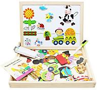 economico -Magneti giocattolo Giocattolo per dipingere Tavole da disegno giocattolo Gioco educativo Cavalletto magnetico Magneti giocattolo Legno Classico A calamita Divertimento Per bambini Da ragazzo Da