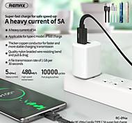 economico -Remax USB C Cavi Piatto Intrecciato Trasmissione dati 5 A 1.0m (3 piedi) Terylene Per Xiaomi MI Samsung Xiaomi Appendini per cellulare