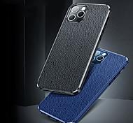 economico -telefono Custodia Per Apple Per retro Custodia in pelle iPhone 12 Pro Max 11 Pro Max Resistente agli urti Tinta unica pelle sintetica TPU