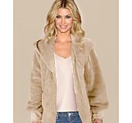 economico -Per donna Moderno Autunno Cappotto teddy Standard Da tutti i giorni Altro Cappotto Top Rosa chiaro