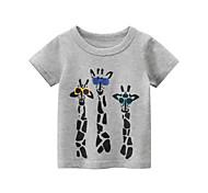 economico -Bambino Da ragazzo maglietta T-shirt Manica corta Pop art Animali Con stampe Grigio Cotone Bambini Top Estate Moda città