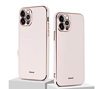 economico -telefono Custodia Per Apple Per retro Custodia in pelle iPhone 12 Pro Max 11 SE 2020 X XR XS Max 8 7 Resistente agli urti Protezione per obiettivo della fotocamera Tinta unica TPU
