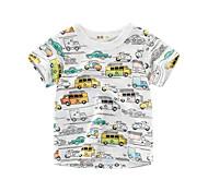 economico -Bambino Da ragazzo maglietta T-shirt Manica corta Pop art Con stampe Bianco Cotone Bambini Top Estate Moda città