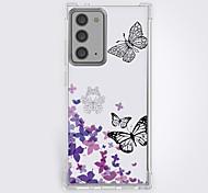 abordables -Papillon Cas Pour Samsung Galaxy S21 Galaxy S21 Plus Galaxy S21 Ultra Modèle unique Étui de protection Motif Coque TPU