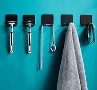 economico -Ganci Lavabile / Rimovibile / Auto-adesivo Contemporaneo moderno Alluminio 6 pz organizzazione del bagno