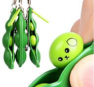 abordables -Lot de 3 porte-clés Edamame Fidget Toys - Squeeze-a-Bean Puchi Puti Mugen Porte-clés Pois Porte-clés Soja Jouets Cadeau