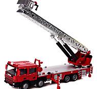 abordables -KDW Alliage de métal Véhicule de Pompier Camion de pompier Véhicule de construction de camion jouet Petites Voiture Rétractable Simulation Camions Incendie Garçon Fille Enfant Jouets de voiture Cadeau