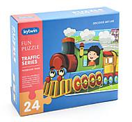 abordables -24 pcs Traîne Puzzle Jouet Educatif Cadeau Adorable Interaction parent-enfant Papier carton Enfant Jouet Cadeau